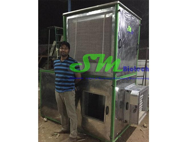 2Mushroom Growing Room Air Handling Unit in Stainless Steel